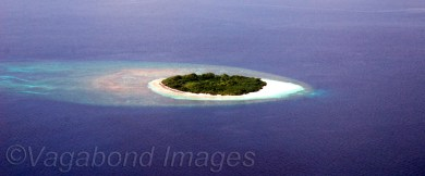 One of the Maldives' uninhabited islands