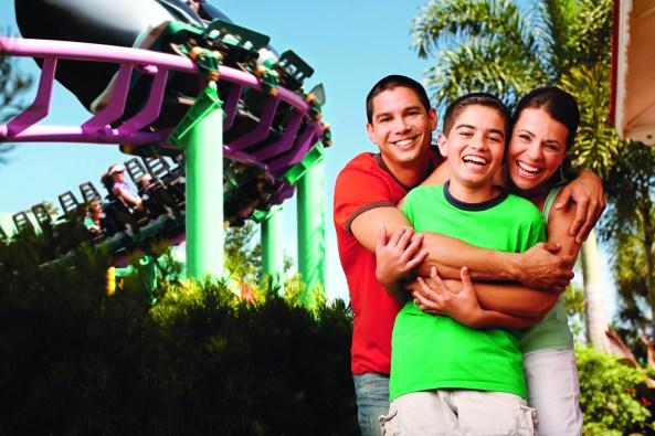 Family enjoying a Roller Coaster at Orlando