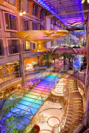 Royale Promenade from Aft Atrium at Mariner of seas