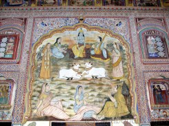 See the European impact on the paintings as the Britishers were the rulers at that time
