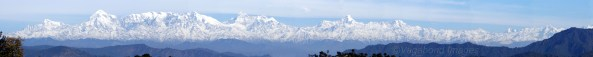 A panoramic view of Nanda Devi peak from Kasar Devi in Almora