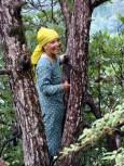 High spirits! Woman wood cutter near Dharmshala