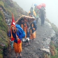 Thousands accompany Nanda Devi on its mythical journey
