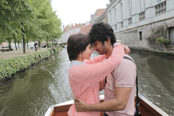 Sushant Singh Rajput and Anushka Sharma at Bruges_