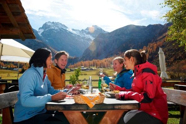Tourists enjoying in Davos