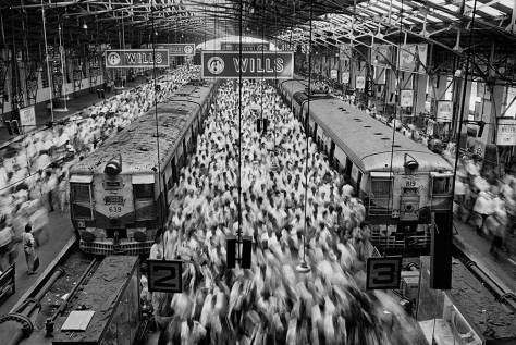 Church gate station, Mumbai, India, 1995. Copyright: Sebastião Salgado / Amazonas Images courtesy Polka Galerie