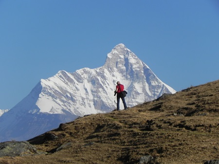 View of Nanda Devi from Gorson