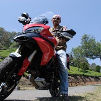 Riding a Ducati in picturesque Munnar