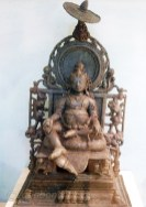 A beautiful bronze statue of Kuber, the god of wealth, symbolised by its huge belly.
