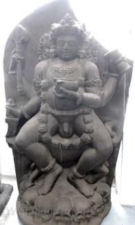 A sculpture of Kal Bhairav