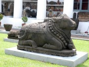 Big sculpture of Nandi in the central courtyard
