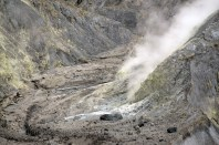 Poisonous gas coming out of the crater