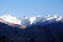 Snow clad peaks around