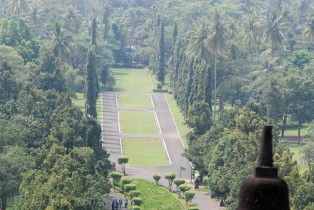 Huge campus around the temple