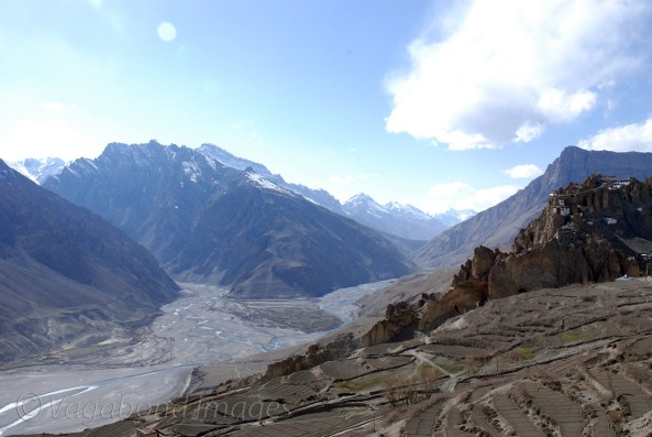 Spiti river flowing down!