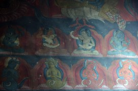 Wall paintings inside protector temple