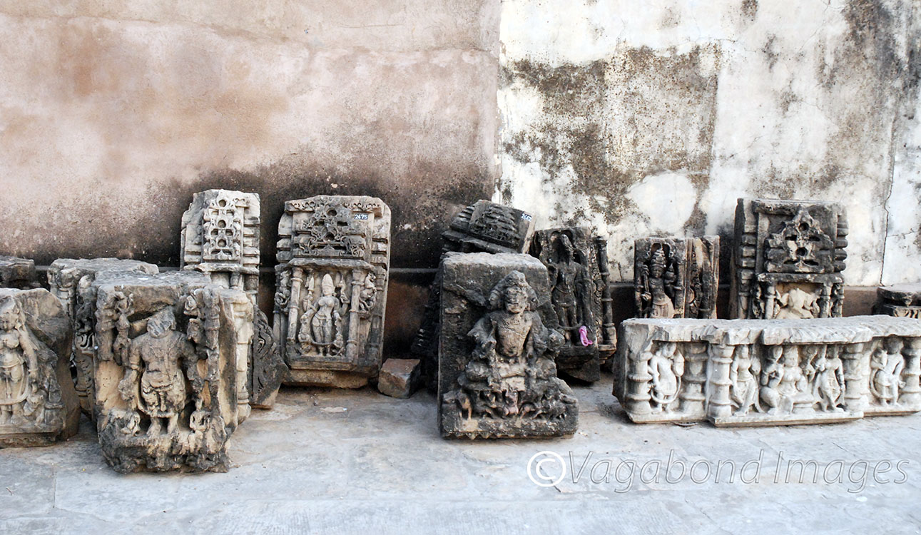 Sculptures around the temple