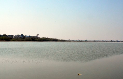 Sambhar Lake and the town on the left side