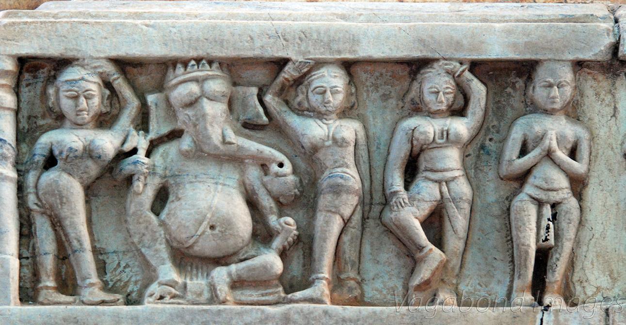 Dancers and Ganesha in between