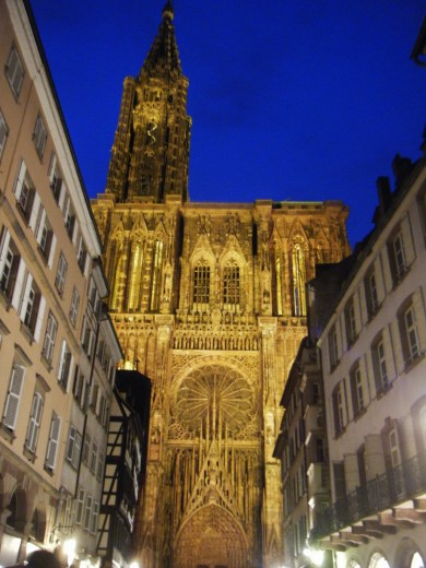 The Cathedrale in Strasbourg.
