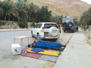 Wadi Bani Khalid bivouac improvisé