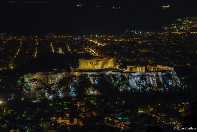 Akropolis from Mount Lycabettus
