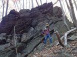 brian-on-the-rocks-wissahickon-creek