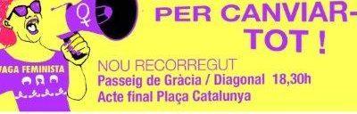 Organització de la manifestació Barcelona 8M