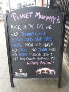 Pubs con mensaje en Dublín