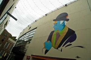 Arte urbano en Temple Bar, Dublín