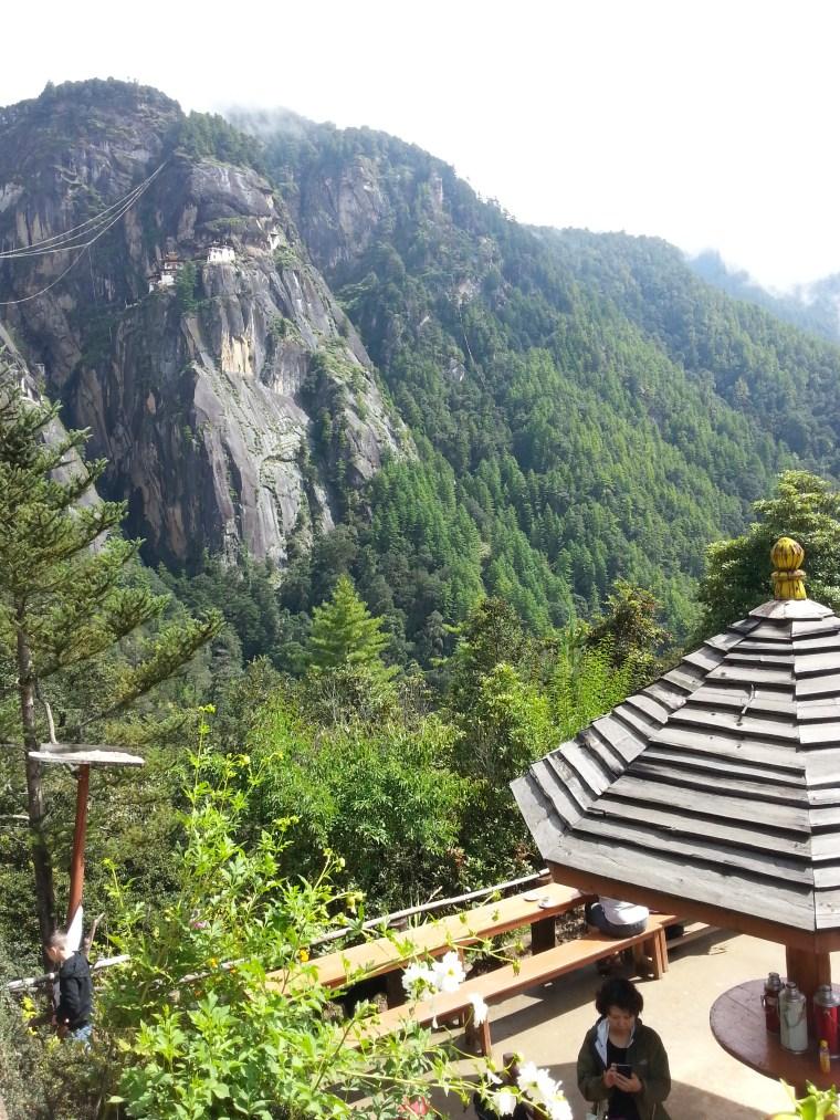 Taktsang Cafeteria, en la subida al Nido del Tigre, Bután