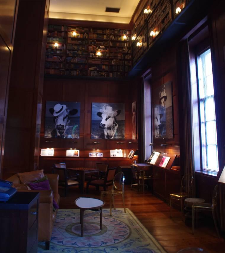 Zonas comunes en el hotel Hudson de Nueva York