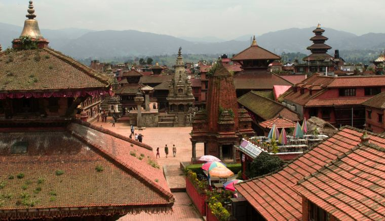 Bhaktapur, vista de la plaza principal (Nepal)