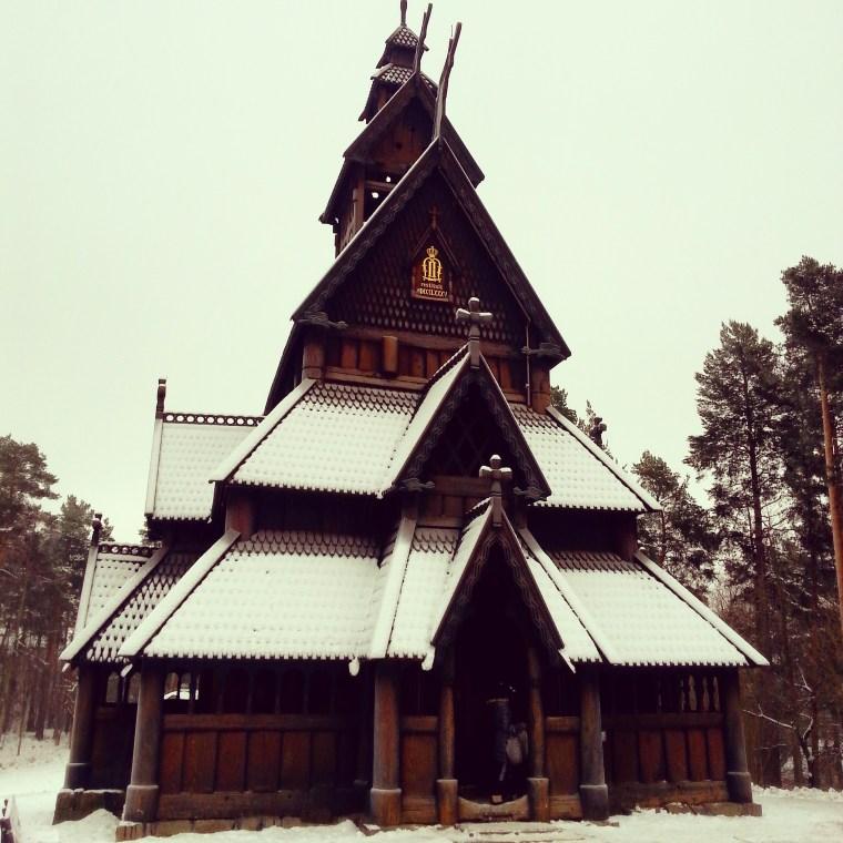 Iglesia de madera de Gol, en el Museo Folklórico Noruego de Oslo