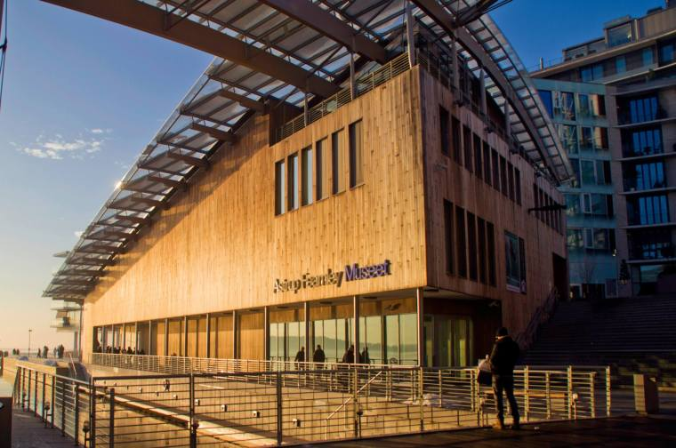 Museo Astrup Fearnley (edificio de Renzo Piano) en Aker Brygge, Oslo