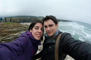 En la playa de las Catedrales, Galicia