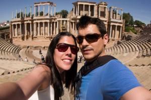 En el anfiteatro de Mérida