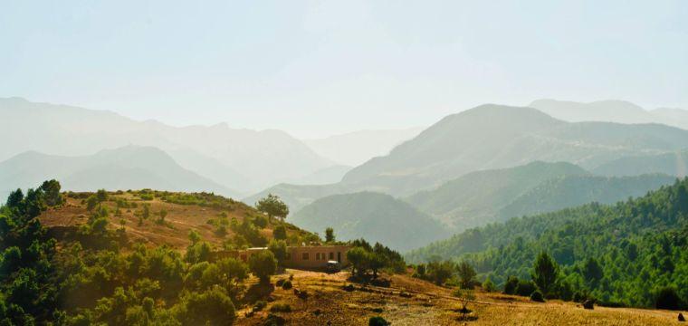 Cruzando la cordillera del Atlas en Marruecos