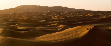 Merzouga, desierto del Sahara en Marruecos