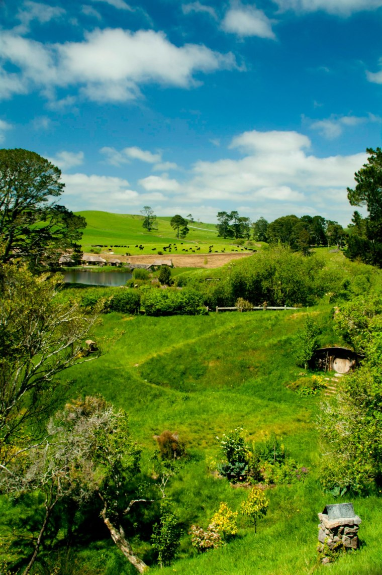 Vista panorámica de la granja donde se ubicó Hobbitton