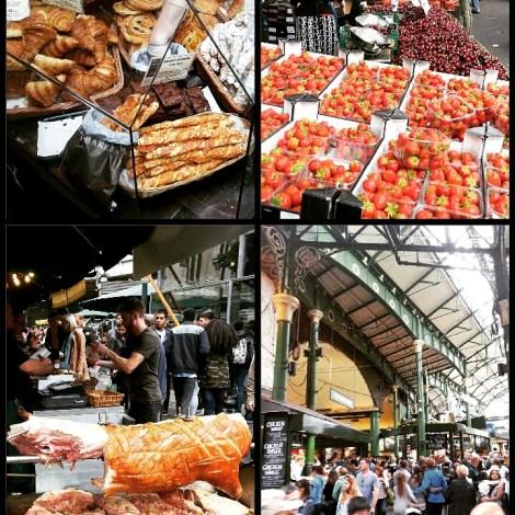 Borough Streetmarket, junto a la catedral de Southwark, uno de los más antiguos de Londres