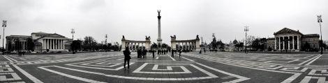 Entrada a la plaza de los Héroes desde la Avenida Andrassy