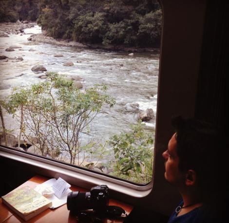 Las vistas desde el tren de Cuzco a Aguas Calientes, atravesando el Valle Sagrado junto al río Urubamba, son espectaculares
