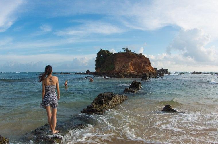 Playa de Mirissa en Sri Lanka