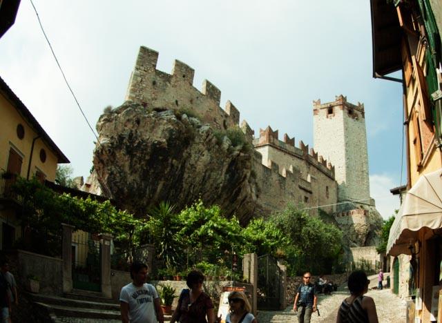 El castillo de Malcesine, el punto más destacado y visible de esta ciudad medieval