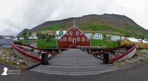 Curiosa casa en Siglufjörður, uno de los pueblos más bellos de Islandia