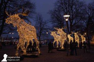 Iluminación navideña en el centro de Estocolmo
