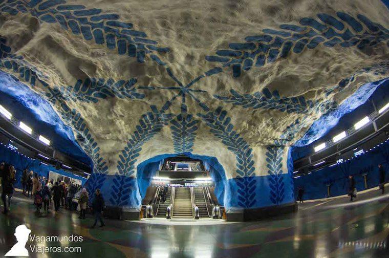 Estación de metro Central en Estocolmo