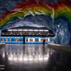 Estación de metro Stadion en Estocolmo