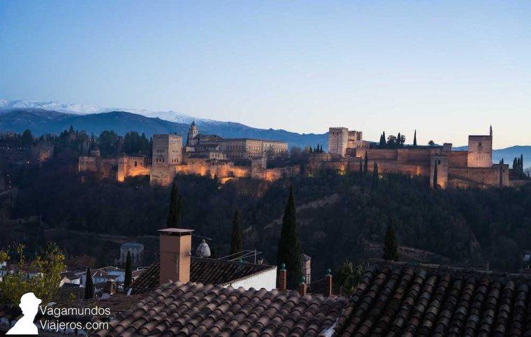 Atardecer sobre la Alhambra desde el Mirador de San Nicolás